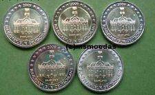 Deutschland 5 x 2 Euro Gedenkmünzen 2009 Saarland Euromünzen commemorative coins