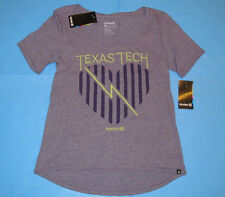 NWT Hurley TEXAS TECH Scoop Neck T-Shirt  Womens Sz S Purple Red Raiders NEW
