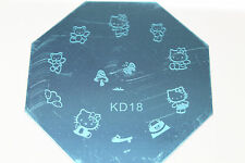 Stamping Device Nail Art Plate Hello Kitty KD18