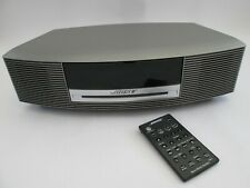 BOSE WAVE MUSIC SYSTEM, SILVER, ALL IN ONE SYSTEM, CD, RADIO, SPEAKERS, REMOTE