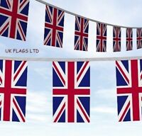 33ft Union Jack GB UK Great Britain United Kingdom Flags Bunting FAST DELIVERY