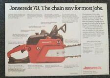 Jonsereds 70 chainsaw advertising brochure old stock