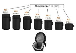 Nylon Objektivköcher Tasche Objektivbeutel Aufbewahrung ohne Gurte