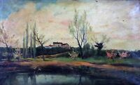 RURAL LANDSCAPE. OIL ON CANVAS. CATALAN SCHOOL. SIGNED VAYREDA. SPAIN. XIX