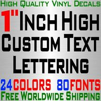"Personalized 1"" Custom Text Name Vinyl Decal Sticker Car Wall 16x Lettering max"