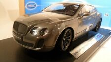 Bentley Continental Super puertos gris 1:18 Welly Collection 18038w