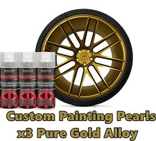 DYC Performix Plasti Dip Pearl Pure Gold Alloy Aerosol Spray Cans x3 Free S/H