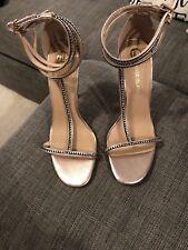 Ladies River Island BNWT Size 7 Metalic Diamante Detail Heels