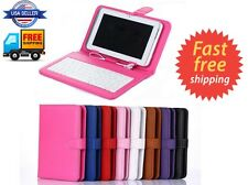 """Universal 7"""" 8"""" 9"""" inch Tablet PC Keyboard Case For Android Windows IOS"""