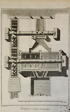 Stampa Tavola X Encyclopedie de Diderot et d'Alembert - Benard - '700