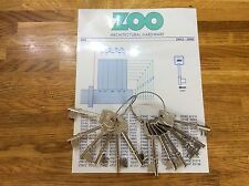 ZOO MORTICE  DEPTH AND SPACE KEYS & CHART
