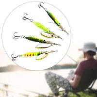 Sequins Durable Metal Fishing Lure Spoon Spinner Treble Hook Crank Bait