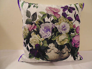 Designers Guild Fabric floral Rugosa 11 Amethyst fabric Cushion Cover
