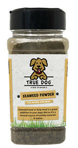 Seaweed Powder for Dogs - 100% natural ground Kelp for dogs & cats - Shaker Tub