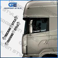 SCANIA V8 TRUCKING STYLE - LKW Seitenfenster Aufkleber - Sticker/Decal, B 50 cm!
