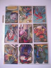 X MEN  ULTRA FLEER 95  SET COMPLET  DE 9 HUNTERS STALKERS LIMITED EDITION    TBE