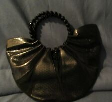 SALE Genuine Python Snake Skin Bag/Handbag in Black