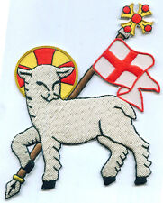 Holy Spirit Lamb Agnus Dei In Hoc Templar Church Chrisitain Vestment Stole Patch