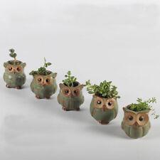 Top QualityMini Owl Ceramic Succulent Planter Pot Flower Plant Garden Decor Gift