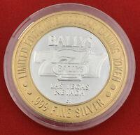 Casino Strike Token Bally's 777 Las Vegas State Of Nevada .999 Fine Silver $10