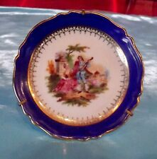 Ancienne Miniature porcelaine de limoges érotisme Fragonard courtiser courtisane
