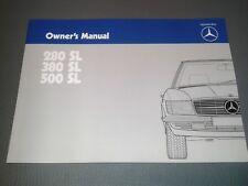 new owners manual / Betriebsanleitung Mercedes-Benz 280SL 380SL 500SL R107 engl.