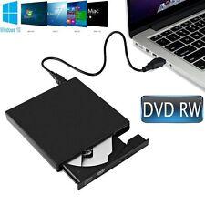 External USB 2.0 Slim DVD RW CD RW Drive DVD Writer Rewriter Burner Win10 8 7 XP