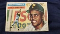 1956 Topps Roberto Clemente Pittsburgh Pirates #33 Card White back nr mt to mint