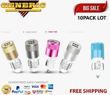 10x Lot Dual usb ports 2.1A+1A Aluminum Alloy Universal Car charger adapter