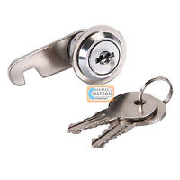 32mm CAM LOCK for Filing Cabinet Mailbox Drawer Cupboard Locker + Secure Keys