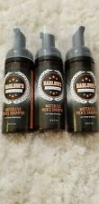 Lot of 3 Barlow's CRAFTED FOR MEN Waterless Mens Shampoo NO RINSE 5.5 oz