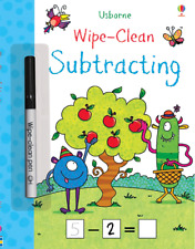 Usborne Wipe-Clean Subtracting (Paperback & Wipe Clean Pen) FREE shipping $35