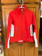 Eddie Bauer Red & Gray Rain Jacket Size M Woman's W / Removable Hood