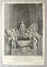 Eau-forte et burin, Mausolée du Maréchal de Saxe, XVIIIème, Chrétien de Mechel