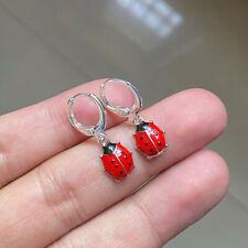 Silver Ladybug metal earrings - ladybug earrings - ladybug jewelry - charms