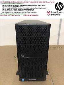 HP ML350 Gen9 2x E5-2650v3 128GB 2x 146GB P440ar/2GB 2x 800W 8SFF Tower Server
