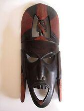 Ältere Holzmaske aus Afrika Kenia Troppenholz hand-geschnitzt 44 cm hoch