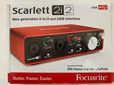 Focusrite Scarlett 2i2 USB Audio Interface Recording
