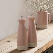 Jura set di 2 Rosa Tall olio d'oliva e Aceto Dispenser Drizzler Saliera-Pepaiola dosatori, tappi