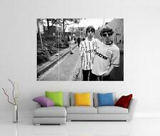Manchester City Oasis Noel & Liam Gallagher Gigantesco Muro ARTE foto STAMPA POSTER
