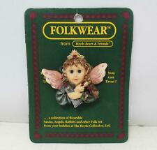 """1995 Boyd's FolkWear Collection Pin - """"Flossie.Keep Smiling"""" - New"""