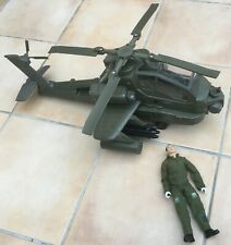 HM Armed Forces British Army Apache Helicopter and pilot figure