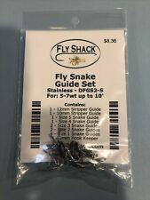 New listing Fly Fishing Rod Guide Set 5-7wt Stainless Snake Guide Kit with 3 Tips Included