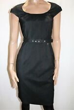 City Dressing Brand Black White Cap Sleeve Shift Dress w Belt Size 8 BNWT #TO41