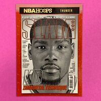 Kevin Durant Slam Holo Insert Card 2020-21 NBA Hoops Winter Rare SP #13