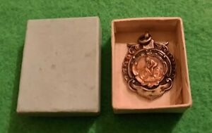 Vintage Sterling Silver and Rose Gold 1955 Cycling Medal