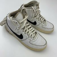Nike Air Force 1 High Athletic Youth Shoes Size Youth 4Y White Black 653998-102