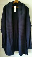 J. Crew Open shawl collar cardigan sweater $148 M-L Med Large Navy B6509