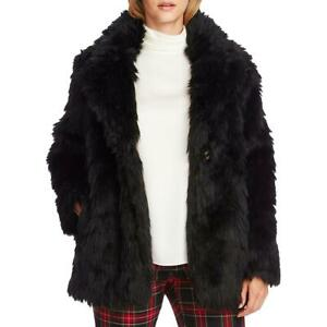 Vince Camuto Womens Winter Cold Weather Shaggy Faux Fur Jacket Coat BHFO 8589
