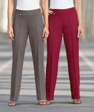 """Damart Pack of 2 Knitted Trousers Size 26 Leg 27"""" NEW RRP £36.99 Grape/Brown"""